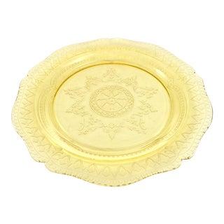 1930s Golden Topaz Glass Tray