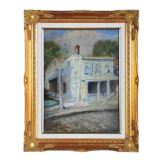 "C. Buck ""Birthplace House in the Bronx"" Painting"