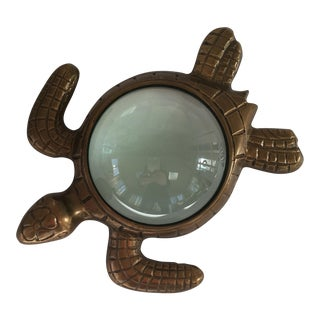 Turtle Magnifying Glass Paperweight