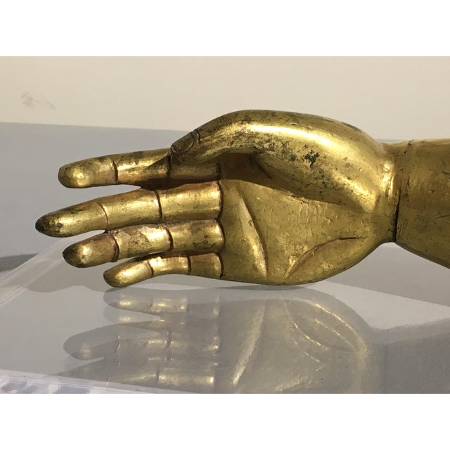 Tibetan Gilt Bronze Arm of the Buddha, early 19th century - Image 7 of 10