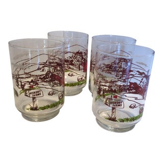 Vintage Hickory Farms Cocktail or Juice Glasses - Set of 4