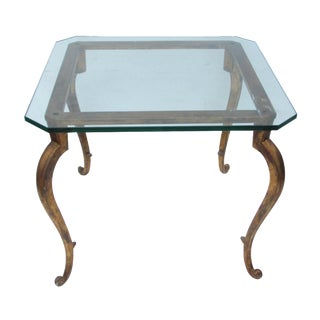 French Gilt Glass Top Table