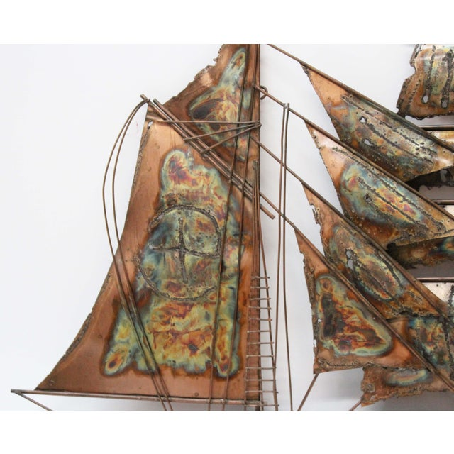 Brutalist Mid Century Ship Wall Sculpture - Image 6 of 6