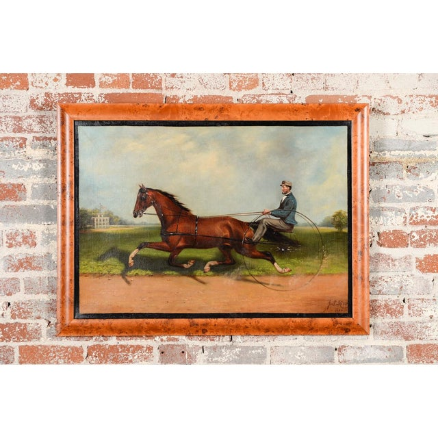 James Hill -19th Century Famous Horse Racing Oil Painting - Image 3 of 10