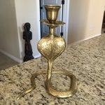 Image of Bohemian Brass Cobra Candle Holder