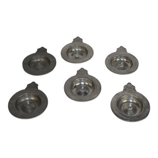 19th-C Pewter Bowl - Set of 6