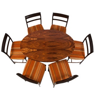 Dunbar Rosewood Table #936 and Six Side Chairs #6738 by Wormley