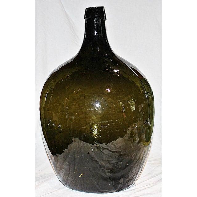 Green Demijohn Blown Bottle - Image 2 of 7