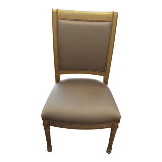 Silvered & Gilt Églomisé Side Chair