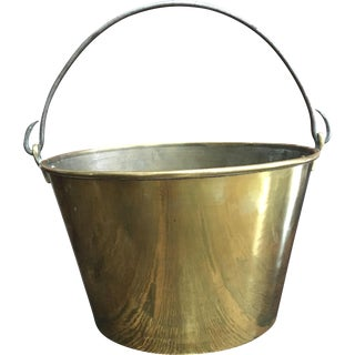 Antique Hayden's Ansonia Spun Brass Bucket