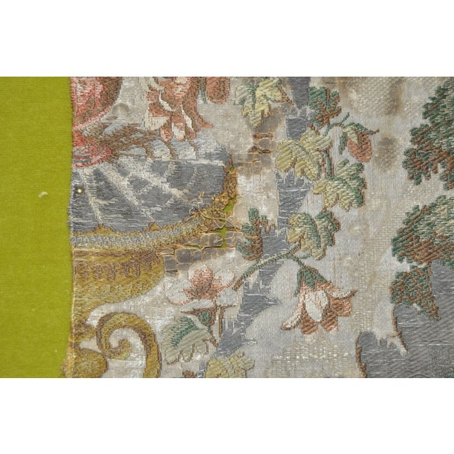Image of Early 19th Century Hand Stitched Silk Tapestry