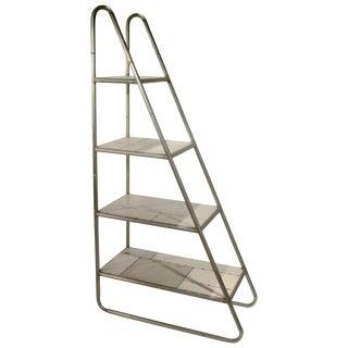Reclaimed Sheet Metal Wedge Curio Shelf