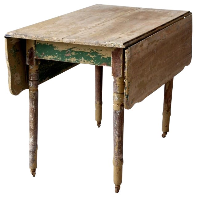 Antique drop leaf table chairish for Antique drop leaf dining table