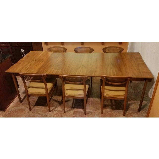 Image Of John Widdicomb Vintage Dining Set