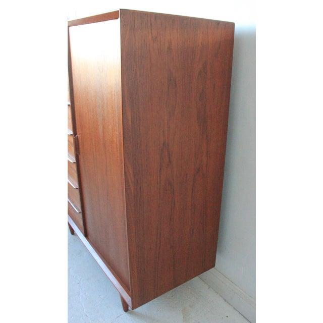 Vintage Falster Mid-Century Modern Teak Highboy Dresser - Image 5 of 9