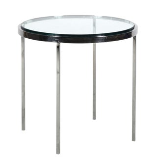 Nicos Zographos Steel Side Table