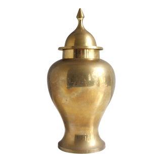 Vintage Brass Urn Ginger Jar