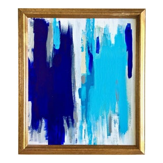 Abstract Blue & White Painting