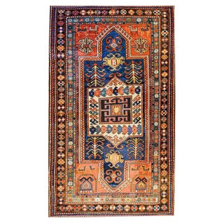 19th Century Persian Kazak Tribal Rug - 3′10″ × 6′6″
