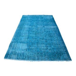 Blue Overdyed Turkish Rug