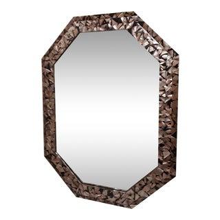 Vintage Maitland Smith Octagon Abalone Shell Mirror