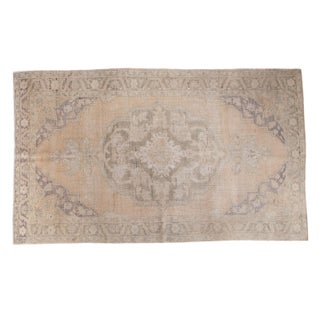 "Peach Distressed Oushak Carpet - 5'9"" x 9'6"""