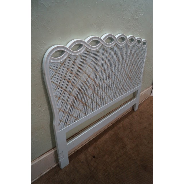 Louis Xv Style Painted Cane Back Queen Headboard Chairish