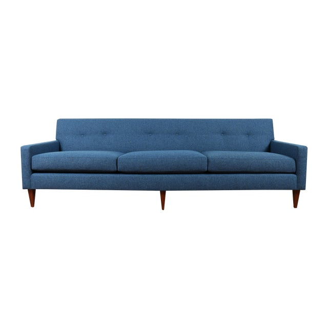 1960's Refinshed And Reupholstered Sofa - Image 1 of 9