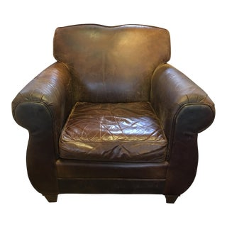 Restoration Hardware Leather French Club Chair