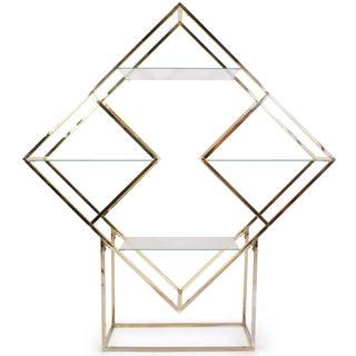 Brass Diamond Sculptural Étagère