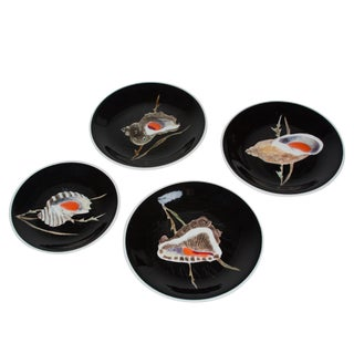 Hand-Painted Seashell Dishes by Guy Trevoux