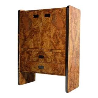 Mid-Century Burlwood Laminate & Chrome Dresser
