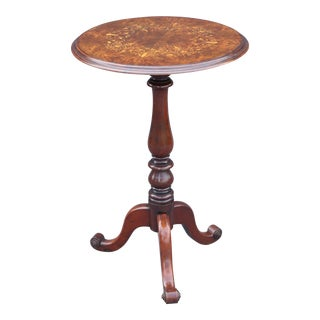 French Walnut Pedestal Wine Table
