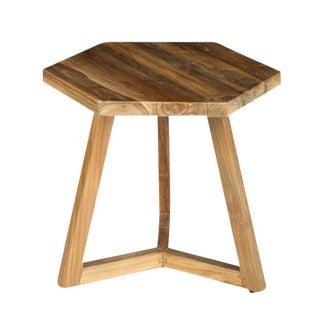 Take Me Home Hexi Teak End Table