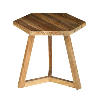 Take Me Home Hexi Teak End Table