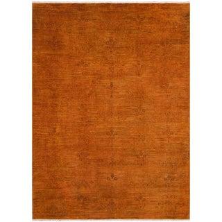 Overdyed Color Reform Chu Burnt Orange Wool Rug - 5'11 X 8'7