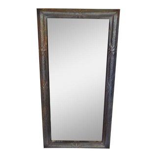 Beveled Tin Framed Decorative Mirror