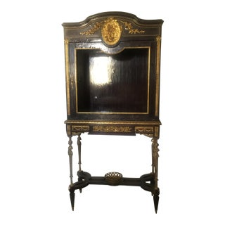 French Vitrine/ Cabinet on Stand Attributed to Adam Weiswiller in the Style of Francois Linke