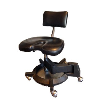 Vintage Dental Assistant Swivel Stool