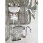 Image of Vintage Italian Murano Three Tier Chandelier