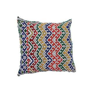 Moroccan Sham W/ Colorful Berber Motifs