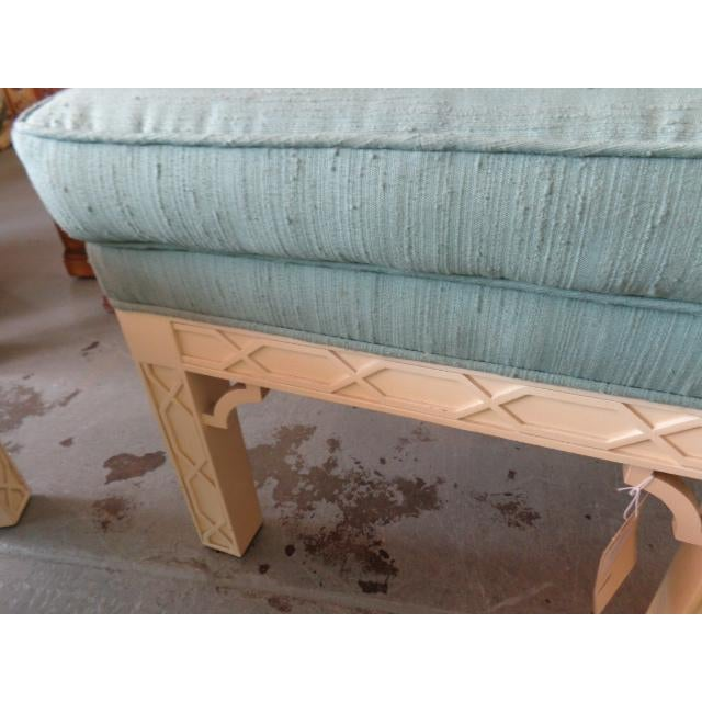 Chippendale Style Fretwork Benches - A Pair - Image 6 of 8