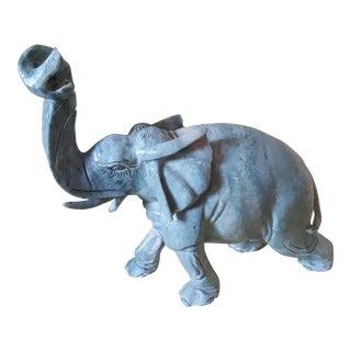 One Large Stone Elephant Figurine