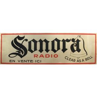 1940s Art Deco Sonora Radio Advertisement