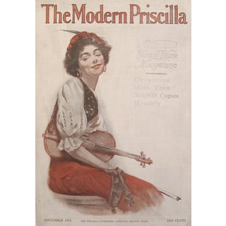 1911 Original American Poster, Female Gypsy Violin Player
