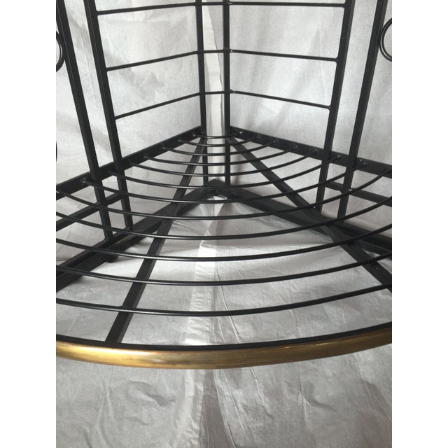 Vintage French Brass And Iron Corner Baker's Rack - Image 6 of 8