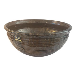 Old World Hand Made Pottery Bowl