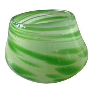 Murano Green Art Glass Bowl