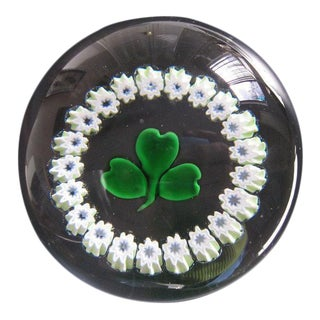 Irish Shamrock Encompassed Paperweight