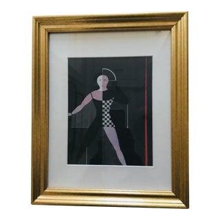 "Oskar Schlemmer Print of ""Figurine With Hanging Threads"""